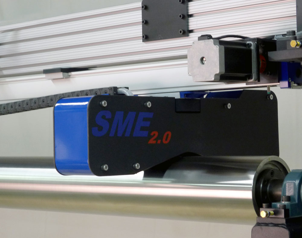 The SME Sensor Enclosure contains Eddy Current Sensor and Laser Shadow Micrometer